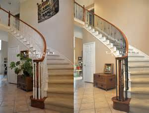 Space Above Kitchen Cabinets Ideas stair remodeling before amp after gallery trinity