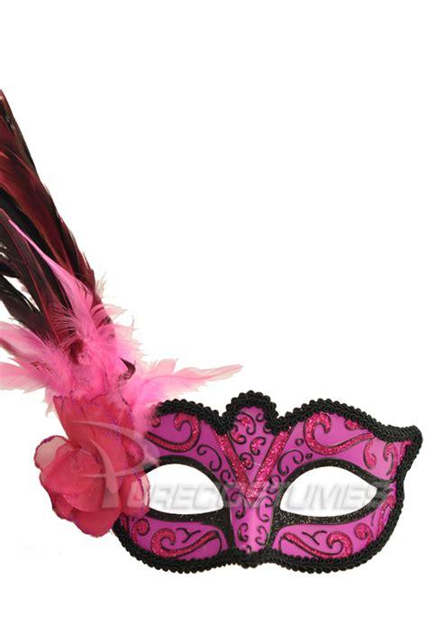 Madame Mardi Gras Mask Pink Purecostumes