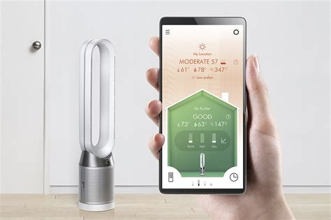 dysons  pure cool   purifies  cools