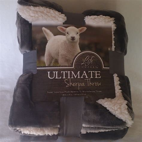 life comfort sherpa blanket ultimate sherpa throw blanket oversized reversible gray
