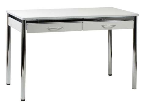Chrome Computer Desk Ledah Leather Desk White Chrome Desks
