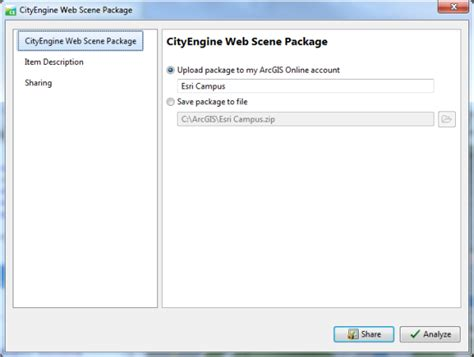arcgis scene tutorial tutorial 15 publish web scenes cityengine tutorials