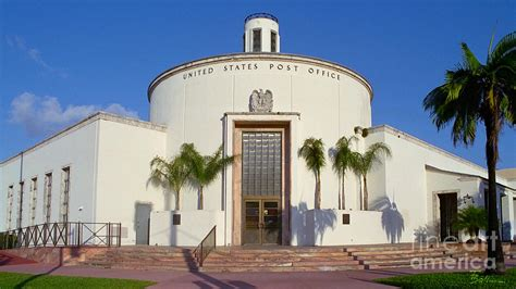 Post Office Miami by Miami Post Office Photograph By Frank Boellmann
