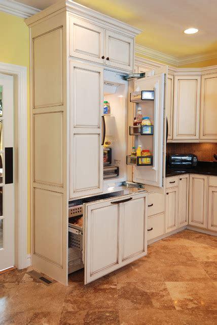 Tall Kitchen Pantry Cabinet Furniture built in fridge freezer