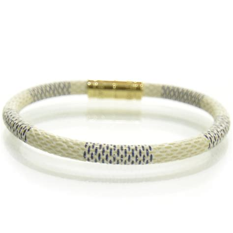 louis vuitton damier azur keep it bracelet 23940