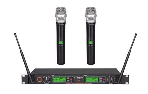 Waireless Microphone Uhf 800 gtd audio 2x800 channel uhf diversity wireless microphone