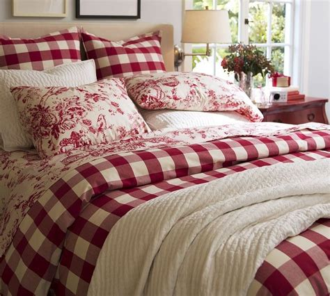 red toile bedding red buffalo plaid comforters red white buffalo check