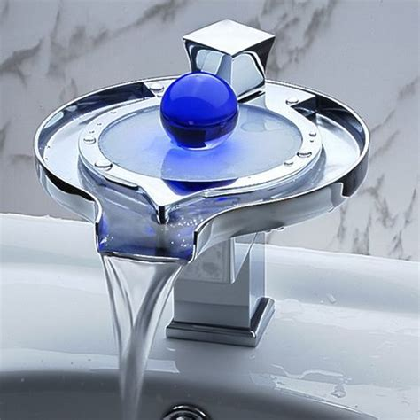 Lighted Faucet by Beautiful Waterfall Faucet With Led Light Bonjourlife