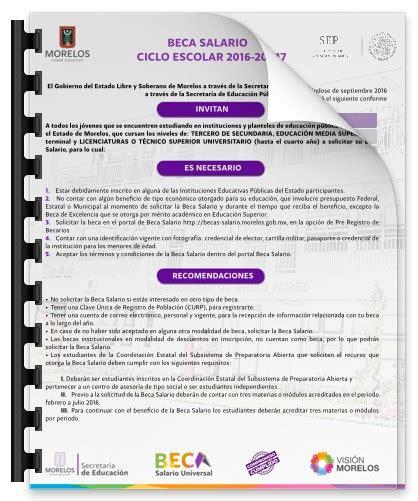 inscripciones subsidio transporte escolar 2016 becas 2017 beca salario ciclo escolar 2016 2017 universidad