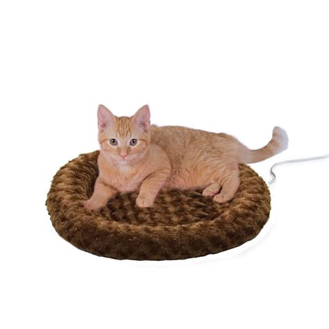 petco cat beds k h thermo kitty fashion splash mocha heated cat bed petco