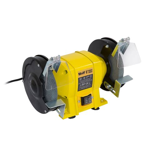 wolf 6 quot 250w bench grinder dual grinding stone 150mm ebay