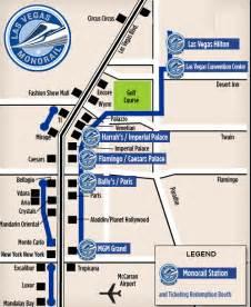 Las Vegas Tram Map las vegas monorail