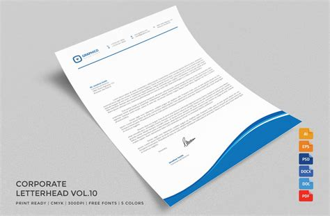 corporate letterhead ms word stationery