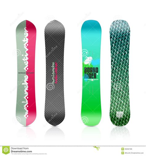 snowboard design template snowboard design stock photo image of jump cool