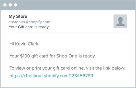 Shopify Gift Card Email - introducing gift cards for shopify