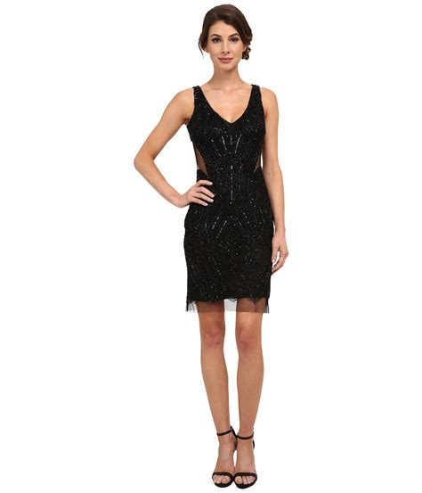 beaded cocktail dress papell fully beaded halter cocktail dress in