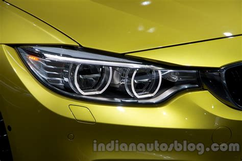 bmw m4 headlights bmw m4 coupe at the 2014 moscow motor show headlight