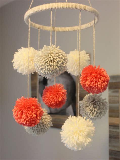 Handmade Pom Pom Decorations - pom pom mobile by preciouspoms on etsy https www etsy