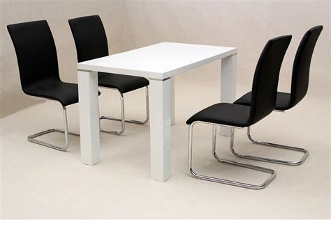 high chair dining set white high gloss dining set with 4 chairs homegenies 2017