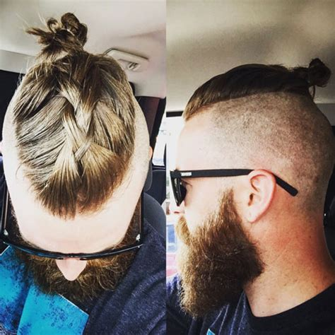 mens hair topknot men s top knot hairstyles