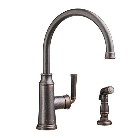 oil rubbed bronze kitchen faucet with sprayer