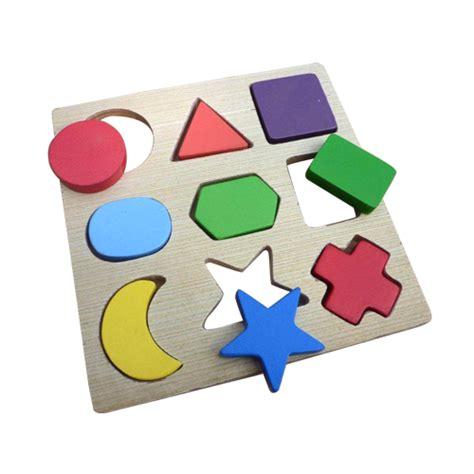Terbaru Mainan Edukatif Puzzle 9 Bentuk Timbul jual puzzle 9 bentuk timbul mainan edukatif edukasi anak