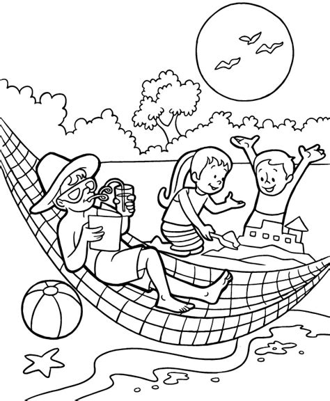 free coloring pages of summer fruit