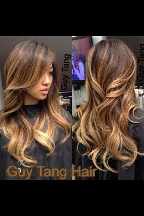 Does Hair Look Like Ombre When Highlights Growing Out | chunky ombre highlights beauty pinterest ombre