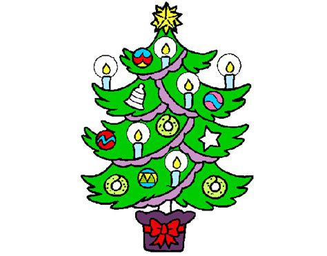 dibujo de arbol de navidad pintado por pilar2 en dibujos