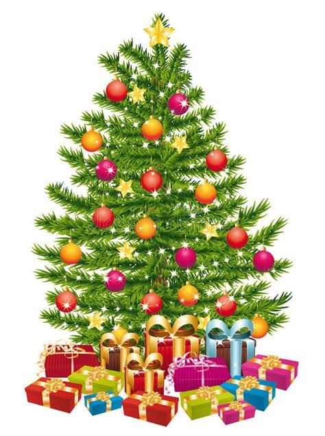 sch 246 ner weihnachtsbaum mit vielen geschenken vektor