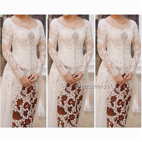 En Rok Brukat Brokat white kebaya simpel tapi elegan all about weddings lace swarovski and kebaya