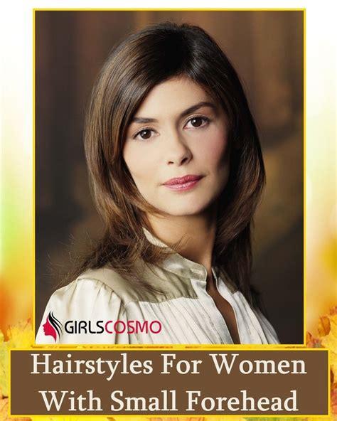 fun hairstyles  women  small forehead