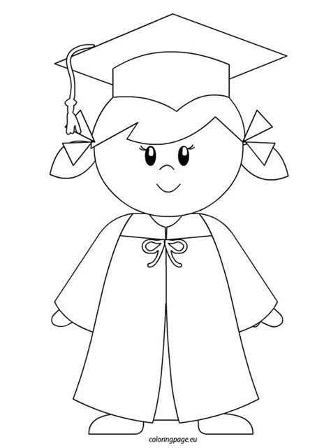 boy graduation coloring page kindergarten graduate girl coloring page to color