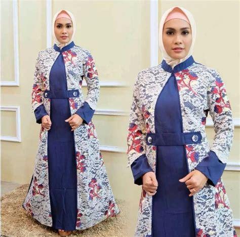 Gamis Batik Big Size 50 model baju gamis batik terbaru 2019 kombinasi modern
