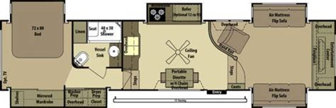 Front Living Room 5th Wheel Floor Plans by Hemlock Hill Rv