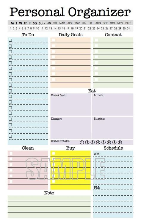 printable personal planner organizer 55 best images about half size printables on pinterest