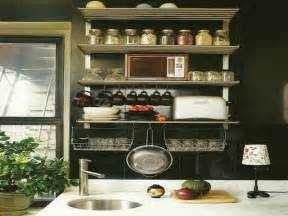 Ideas For Kitchen Wall by Small Kitchen Wall Shelving Ideas Home Interior Design