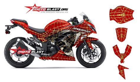 Topeng Kawasaki Ninja250 Fi V3 modif 250r merah gold2 motoblast