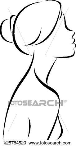 clipart donne clipart rivestire disegno di donne profilo k25784520