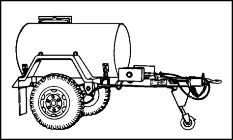 military trailer cer military water trailer