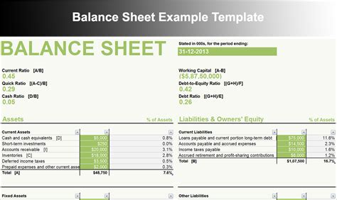 opening balance sheet template balance sheet template free excel word documents