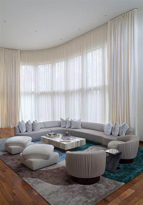 contemporary living room curtains  living room ideas