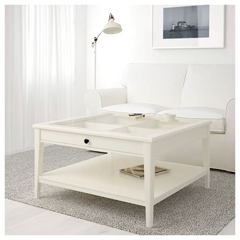 Liatorp Coffee Table White Glass 93x93 Cm Ikea White Coffee Table