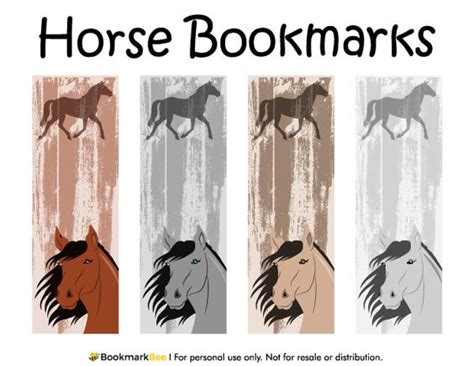 free printable horse bookmarks free printable horse bookmarks download the pdf template
