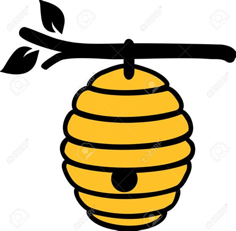 bee hive clip branch clipart beehive pencil and in color branch