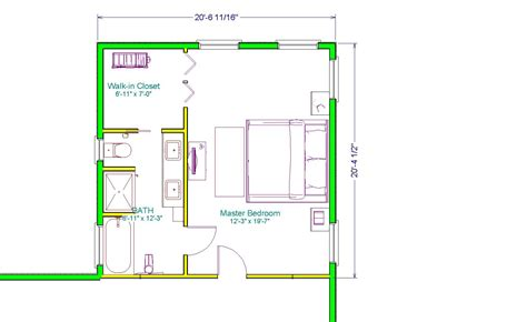 The Executive Master Suite 400sqft Home Interior Master Bedroom Floor Plan Designs
