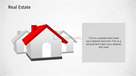 house themes for powerpoint 3d house clipart powerpoint shape slidemodel