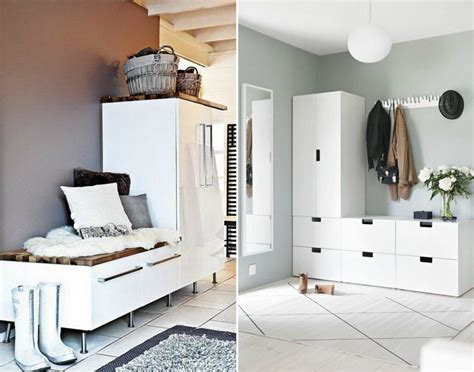 Superbe Meuble De Rangement Peu Profond #4: Am%C3%A9nagement-entr%C3%A9e-blanc-moderne-rangements-meuble-chaussures.jpg