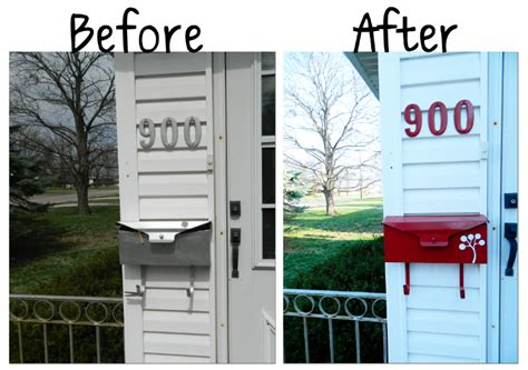 mailbox attached to house mailbox makeover thriving home