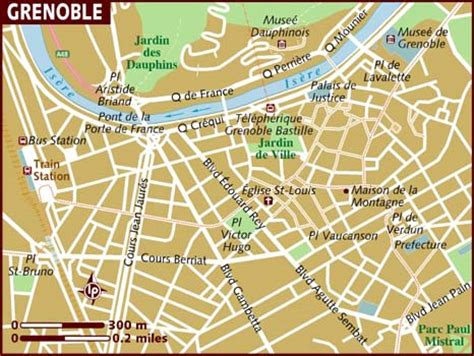 map of grenoble map of grenoble